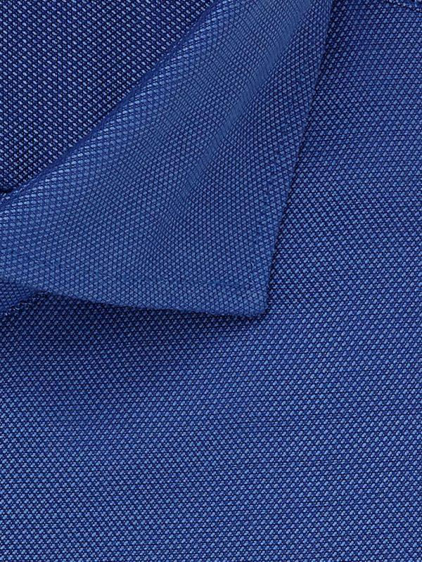 Overhemd blauw cutaway boord 100% katoen non-iron detail