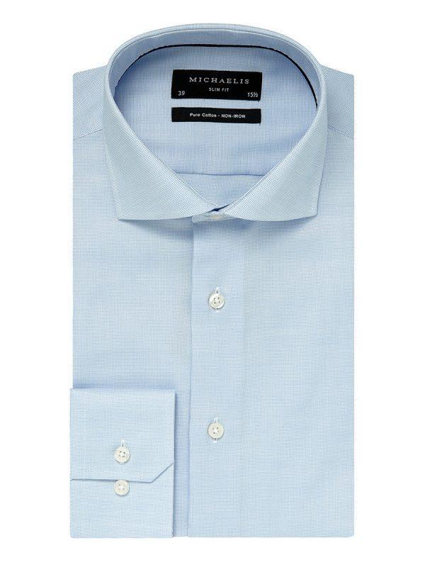 Overhemd lichtblauw cutaway boord 100% katoen non-iron