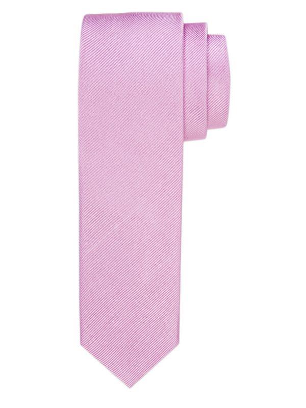 Stropdas zuiver zijde streep uni zacht roze