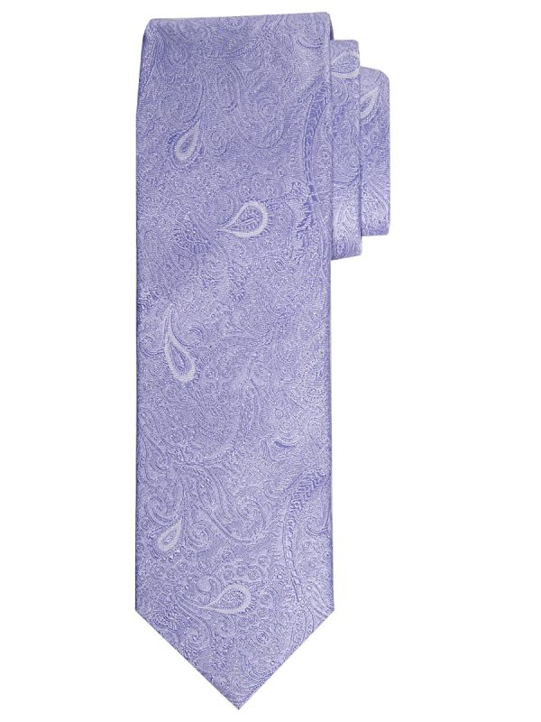Stropdas zuiver zijde paisley patroon lila