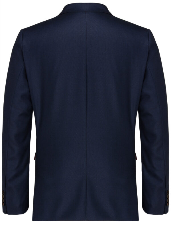 Slim Fit Kostuum Navy Guabello Savile Row jas achter