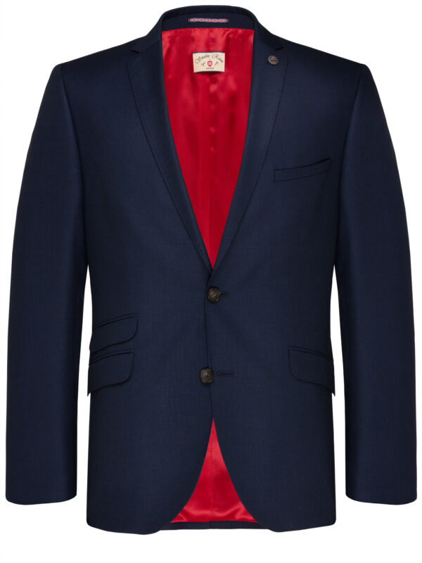Slim Fit Kostuum Navy Guabello Savile Row jas voor