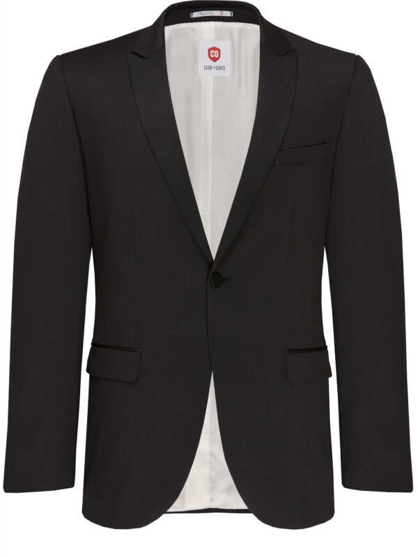 Slim Fit Smoking Zwart jas voor